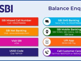 SBI Balance Enquiry Methods