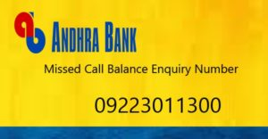 how to check andhra bank account balance