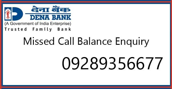 how to check dena bank account balance