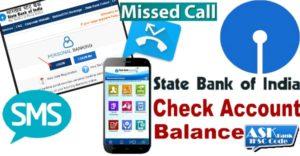 sbi check balance