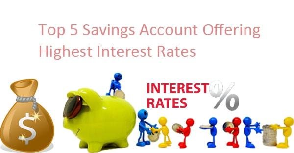 top 5 banks ofering highest interest rates