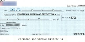 cheques and its types