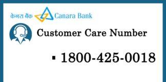 Canara Bank Customer Care Number