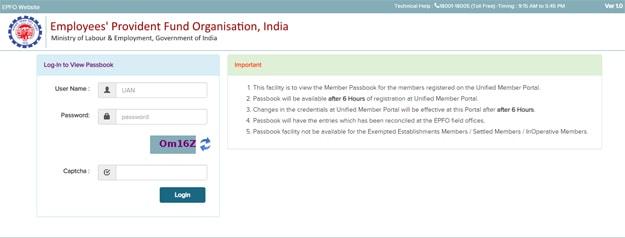 EPF Account Balance Check via EPF Portal Login