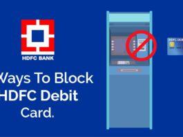 how to block hdfc bank debit card