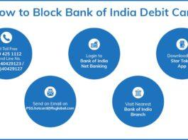 how to block BOI debit card