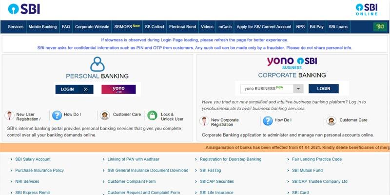 sbi online retail net banking
