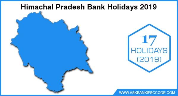 Himachal Pradesh Bank Holidays 2019