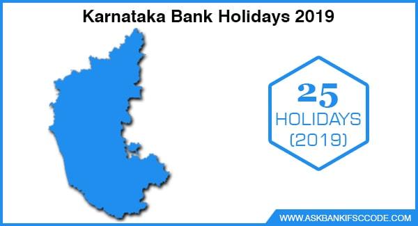 Karnataka Bank Holidays 2019