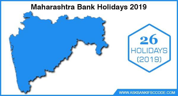 Maharashtra Bank Holidays 2019