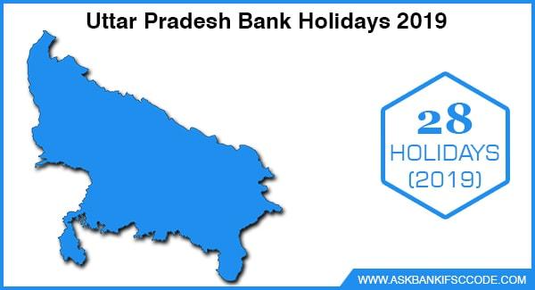 Uttar Pradesh Bank Holidays 2019