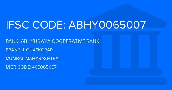 Abhyudaya Cooperative Bank Ghatkopar Branch IFSC Code