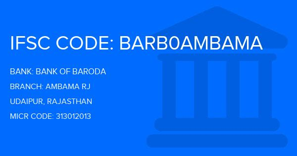 ifsc code bank of baroda udaipur