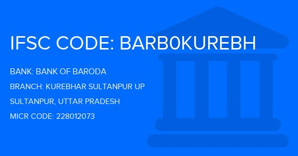 ifsc code bank of baroda up sultanpur kurebhar
