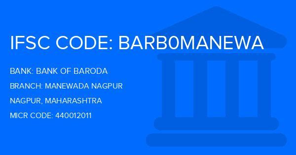 bank of baroda manewada branch nagpur ifsc code