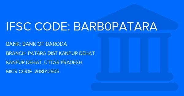 ifsc code bank of baroda rania kanpur dehat