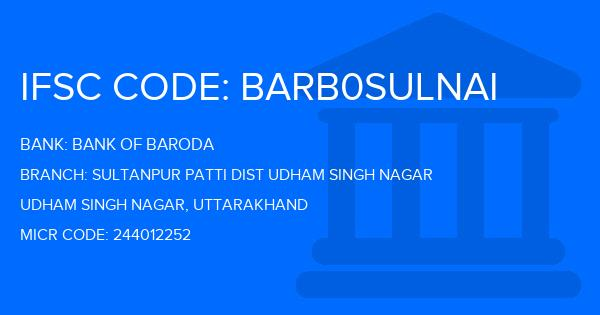 ifsc code of bank of baroda sultanpur patti