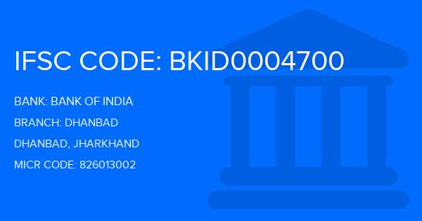 ifsc code of bank of india dhanbad