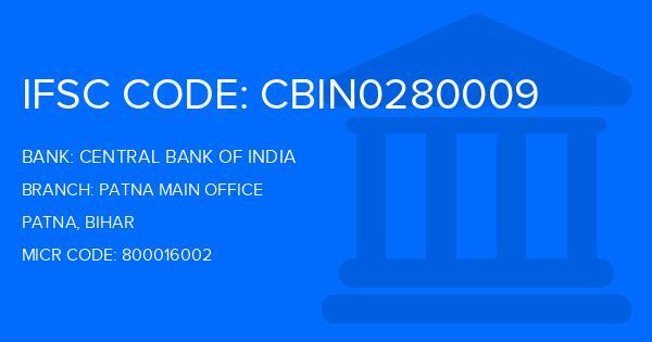 central bank of india patna main branch address