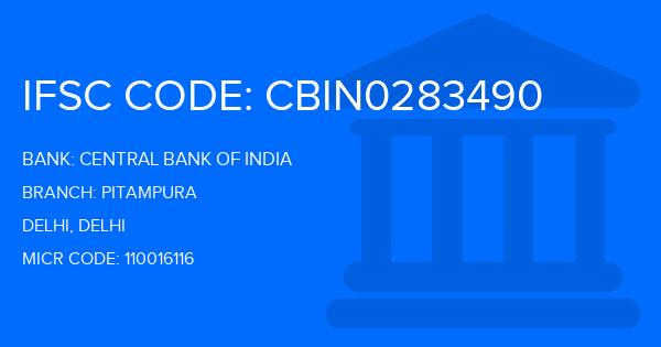 ifsc code of central bank of india pitampura