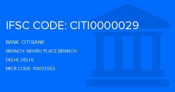 Citi Bank Nehru Place Branch