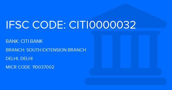 Citi Bank South Extension Branch