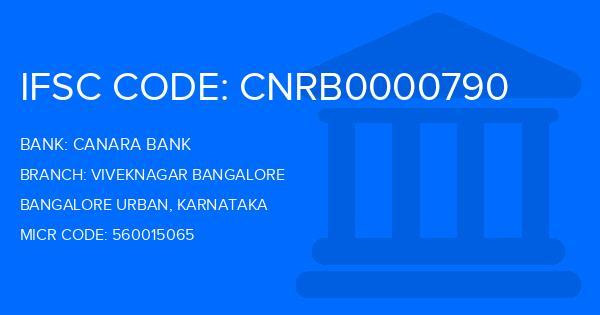 canara bank ifsc code bangalore basaveshwara nagar branch