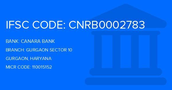 Canara Bank Gurgaon Sector 10 Branch IFSC Code