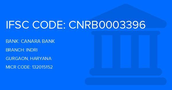 Canara Bank Indri Branch IFSC Code
