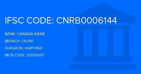 Canara Bank Tauru Branch IFSC Code