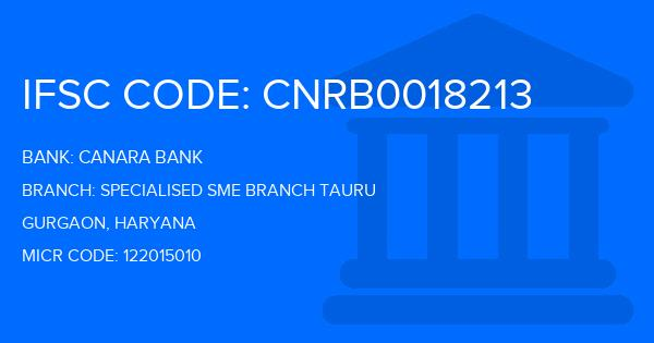 Canara Bank Specialised Sme Branch Tauru Branch IFSC Code