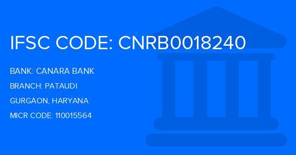Canara Bank Pataudi Branch IFSC Code