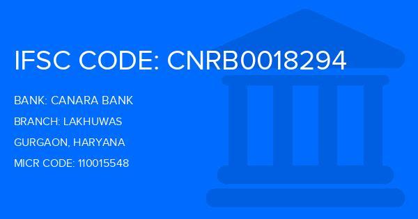 Canara Bank Lakhuwas Branch IFSC Code