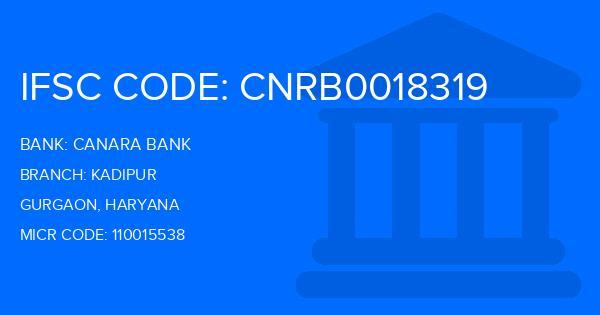 Canara Bank Kadipur Branch IFSC Code