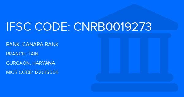 Canara Bank Tain Branch IFSC Code