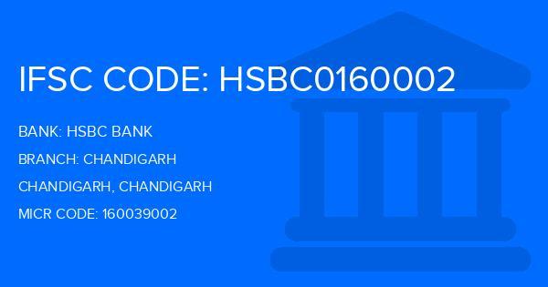 Hsbc Bank Chandigarh Branch, Chandigarh IFSC Code- HSBC0160002