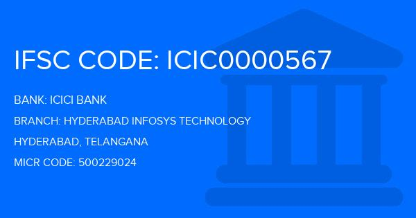 icici bank infosys branch ifsc code hyderabad