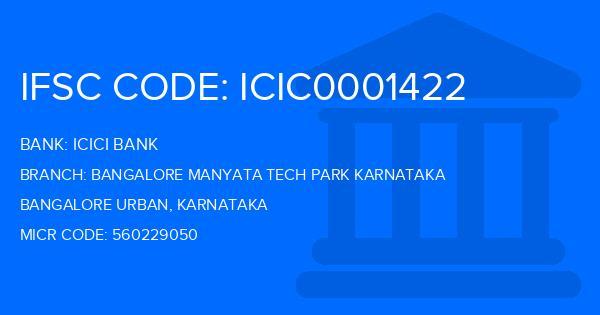 icici bank ifsc code bangalore manyata