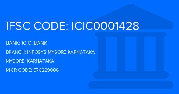icici bank mysore infosys branch ifsc code