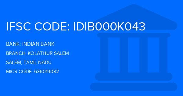 indian bank kolathur branch ifsc code