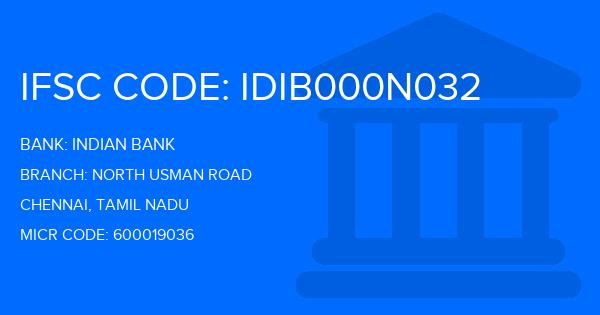 indian bank south usman road branch ifsc code