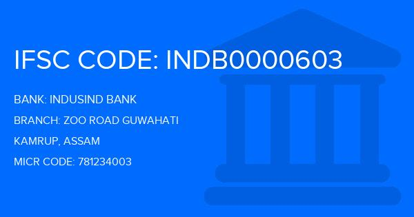 Indusind Bank Zoo Road Guwahati Branch IFSC Code