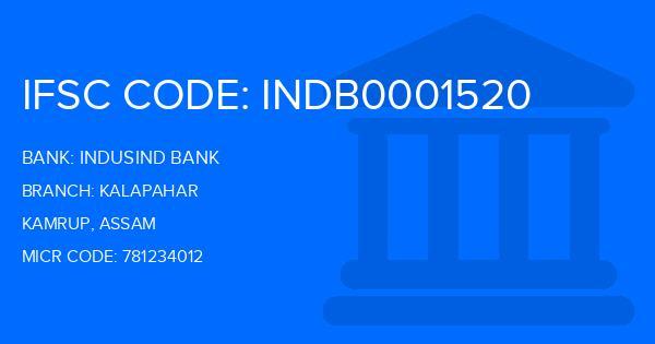 Indusind Bank Kalapahar Branch IFSC Code