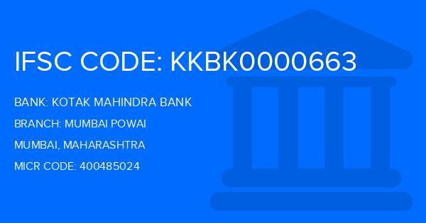 kotak mahindra bank hiranandani powai ifsc code