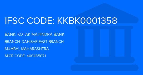 kotak mahindra bank mumbai ghatkopar east branch ifsc code