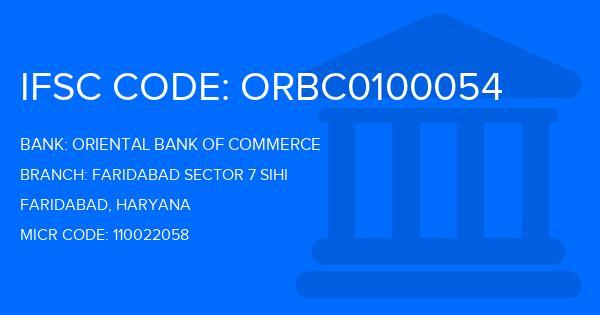 oriental bank of commerce sector-16 faridabad ifsc code