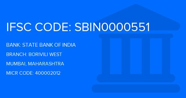 State Bank Of India (SBI) Borivili West Branch IFSC Code