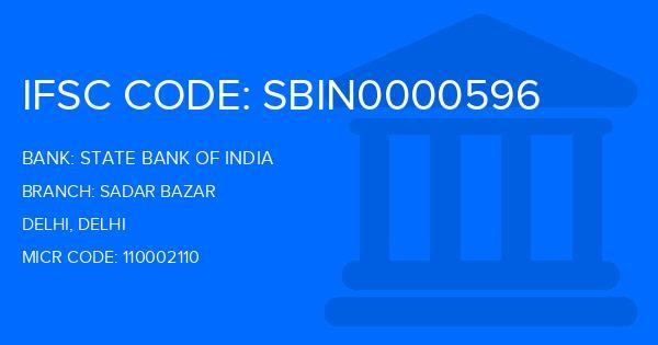 State Bank Of India (SBI) Sadar Bazar Branch IFSC Code
