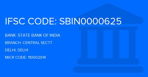 State Bank Of India (SBI) Central Sectt Branch IFSC Code