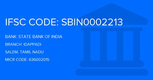 state bank of india idappadi branch ifsc code